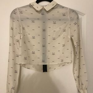 UO cropped shirt